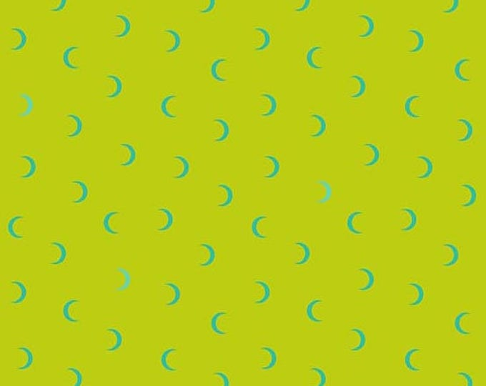 Andover Fabrics - Wildside by Libs Elliot - Moon Age Lime cotton woven fabric