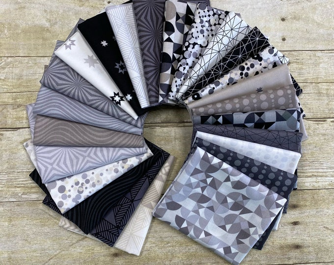 Andover Fabrics - Stealth by Libs Elliott  - Fat Quarter Bundle of 25 Prints - Cotton Woven Fabric