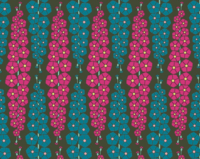 Art Gallery Fabric - Loved to Pieces -Pink and Blue Gladiolumns - Gentle - Cotton Woven