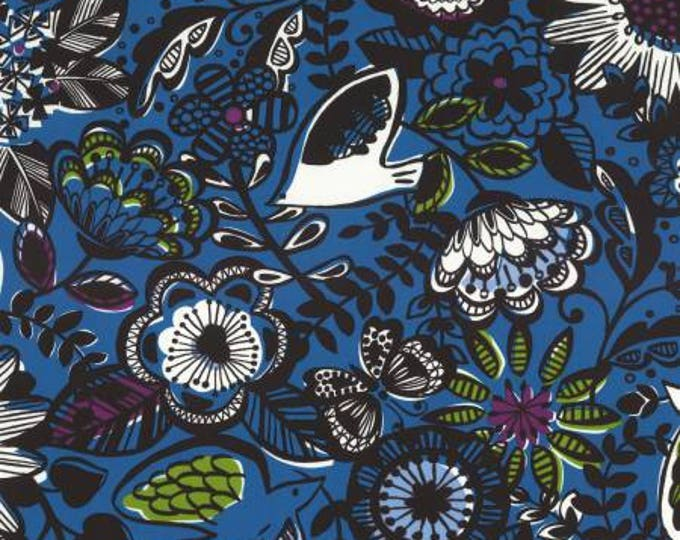 Lecien, Floral Blue Nylon Oxford