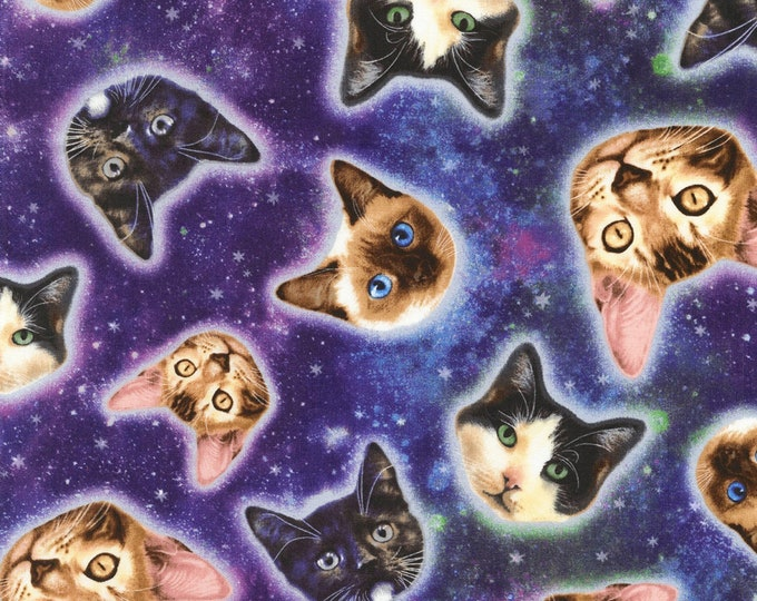 Timeless Treasures - Galaxy Cat - Cotton Spandex Knit