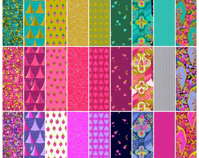 Fat Quarter Bundle of 27 Prints Road Trip by Alison Glass - Cotton Woven Fabric - Andover