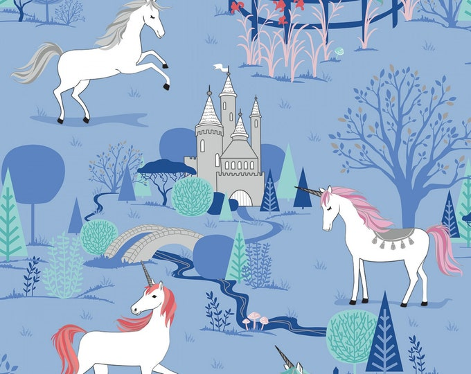 Riley Blake - My Unicorn by Kelly Panacci -Main Periwinkle with Sparkle   #SC8200R-PERI Cotton Woven Fabric