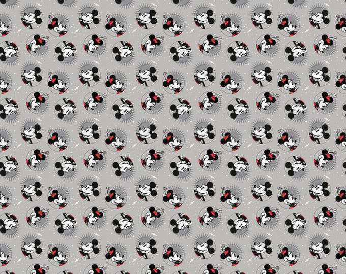 Springs Creative - Licensed Classic Mickey Smile Cotton Woven Fabric