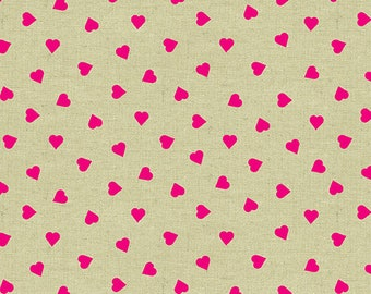 Andover Fabric - Mix Tape by Libs Elliott  - Heart of Glass - Pink Tailor's Cloth A8872E Cotton Woven Fabric