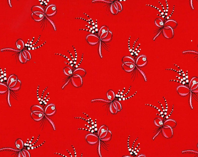 Michael Miller Fabrics - Boudoir by Gertie - Red Laura #DC8504-RED Cotton Woven Fabric