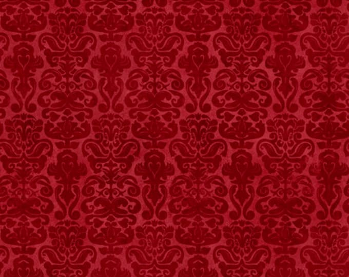 Quilting Treasures - My Story Licensed Santoro - Red Brocade 27144-R - Cotton Woven Fabric