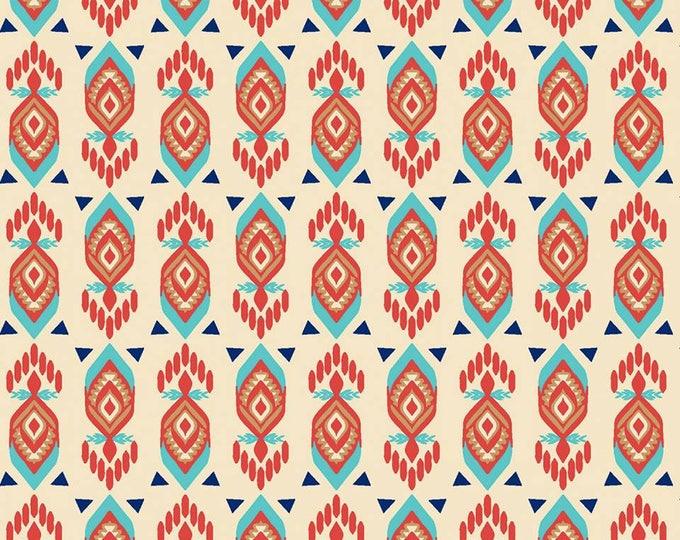Pachua Geo Tan cotton fabric