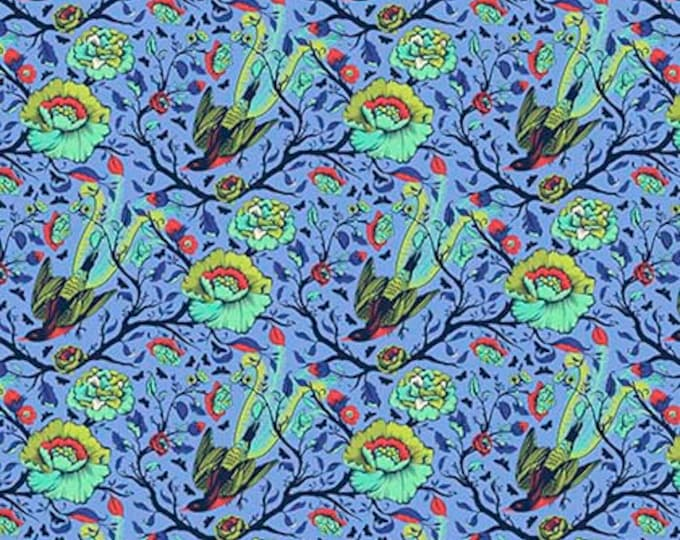 All Stars Tail Feathers Lupine by Tula Pink for Free Spirit Fabrics