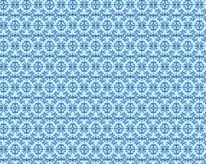 CLEARANCE -   Free Spirit Fabrics - Peacock Paradise by Corinne Haig -  Indigo Medallion Cotton Woven Fabric   - Price is Per Yard