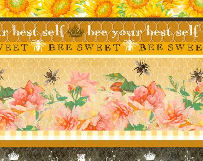 Studio E Fabrics - Bee Sweet by Cerrito Creek **Limited Release** - Novelty Stripe - 5126-44 - Cotton Woven Fabric