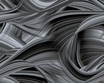 "Blank Quilting - Sedona Waves - Charcoal 9537-95   108"" Wideback Cotton Woven Fabric"