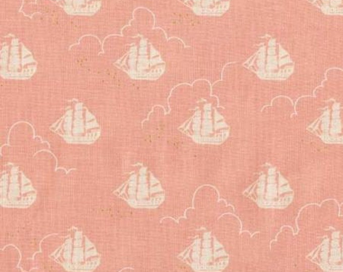 Michael Miller - Peter Pan by Sarah Jane  Jolly Roger - Blossom -Metallic Cotton Woven Fabric