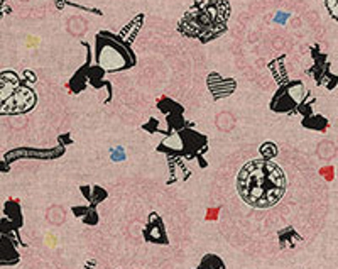 Lecien Fabrics - A Girl's Story - Alice in Wonderland 40698-20 Alice allover on pink