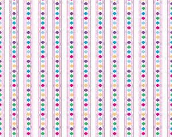 Riley Blake Fabric - Licensed Girl Scout Stripe White Cotton Woven Fabric