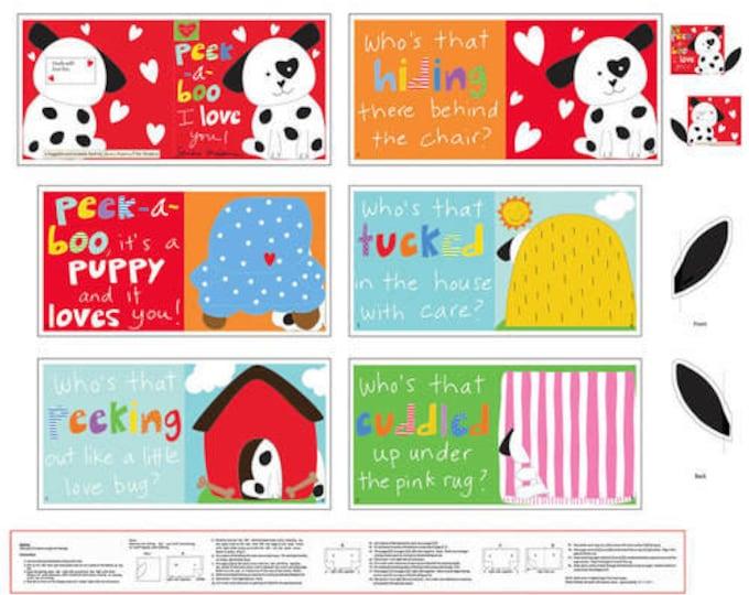 "Studio E -   Huggable and Lovable VI by Sandra Magsamen - Peek-A-Boo Book 4610P-1 36"" Panel Cotton Woven Fabric"