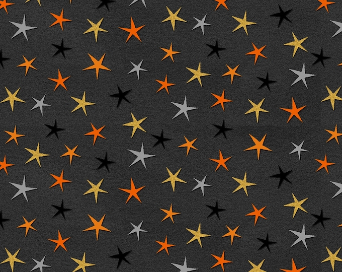 StudioE - Cheekyville - Dark Grey Stars #4665S-99 Cotton Woven Fabric