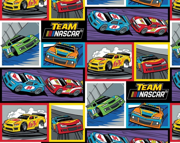 Camelot Fabrics - Licensed Nascar - Racing Blocks # 39190113-1 - Cotton Woven Fabric