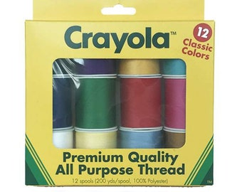Notion - Crayola Thread Collection STCR-7835 - All Purpose Thread (See Description for packaging details.)