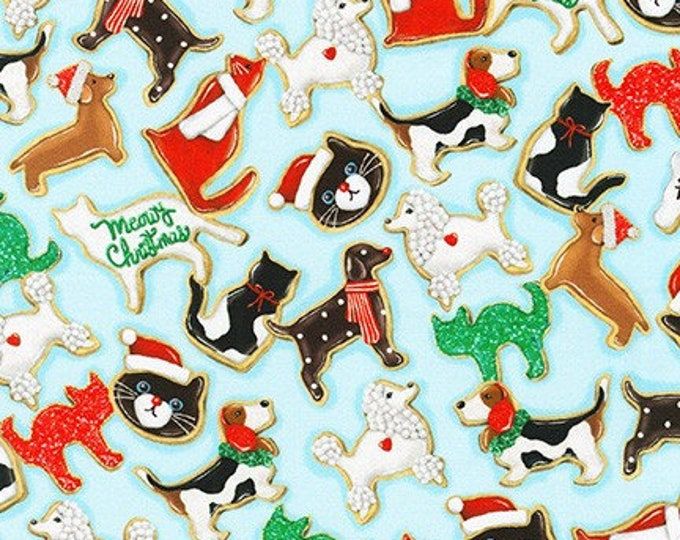 Robert Kaufman Fabrics - Holly Jolly Christmas - #AMKD-18574-70 AQUA Cotton Woven Fabric