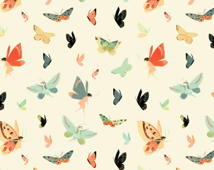 Riley Blake Designs - Dream World by Emily Winfield Martin - Butterflies Cream # C9084R-CREAM - Licensed Cotton Woven Fabric