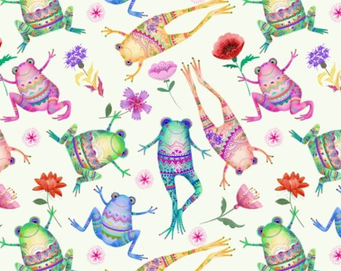 Frogs 50913-X Cotton Woven Fabric - One of a Kind by Whistler Studios for Windham Fabrics