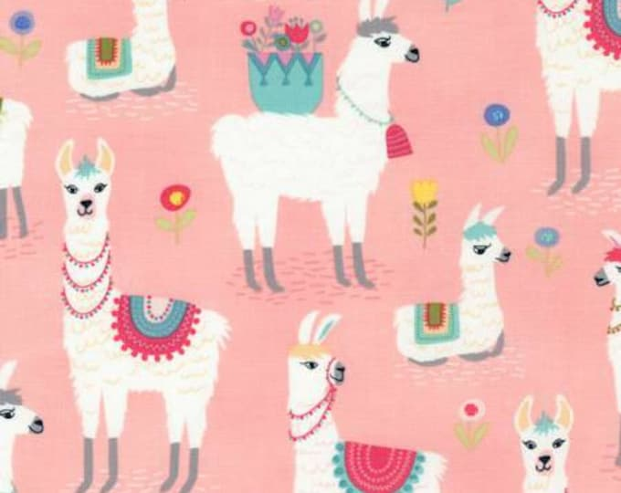Alpaca Party Cotton Woven Fabric by Timeless Treasures