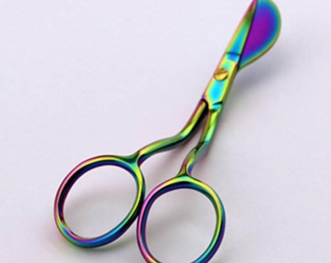 """Tula Pink NEW !! 4"""" Mini Duck Billed Scissors"""