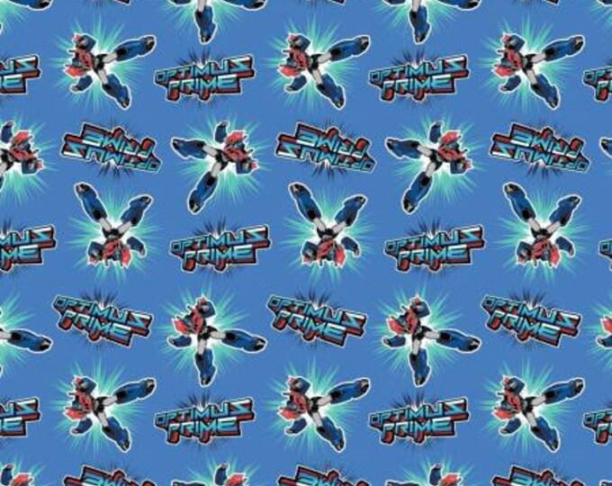 Transformers - Optimus Prime -  Cotton Woven Fabric - Hasbro