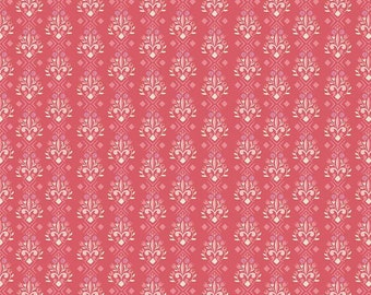 LAST PIECE 2 yards 8 inches- Riley Blake Design- Beauty & The Beast Jill Howarth - Fleur-de-lis Dark Pink C9535-DKPINK - Cotton Woven Fabric