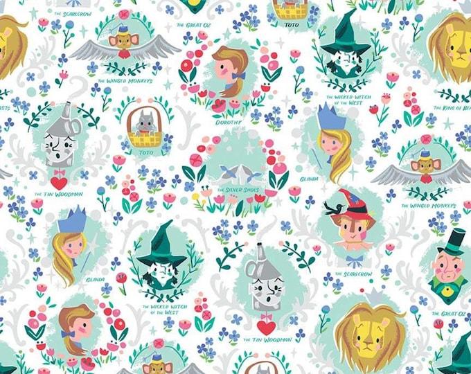Riley Blake Designs - Dorothy's Journey by Jill Howarth - Vignette White Sparkle SC8681-WHITE - Cotton Woven Fabric