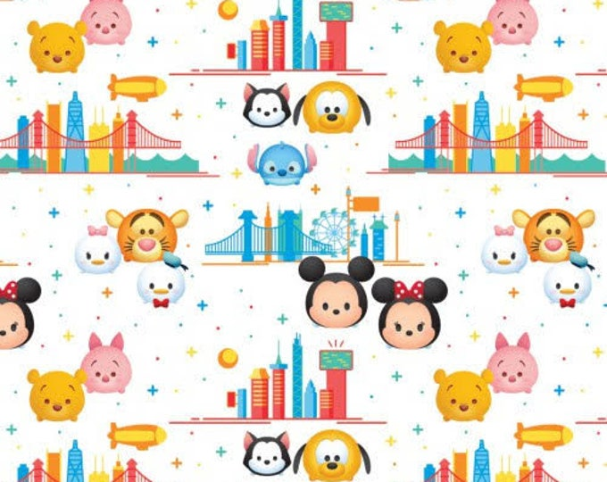 Springs Creative - Tsum Tsum - White Cotton Woven Fabric
