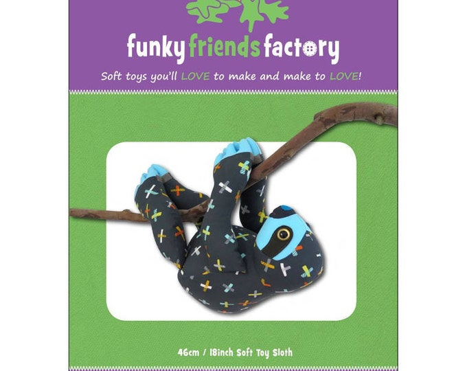 Pattern - Slowpoke the Sloth Pattern From Funky Friends Factory