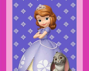 CLEARANCE -      Disney's Sofia the First Panel Cotton woven 1 Yard in length