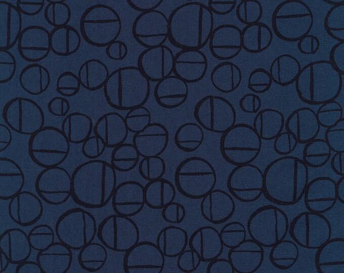 Forage - Anna Graham - Midnight Circles - Cotton Linen Blend Fabric - Robert Kaufman