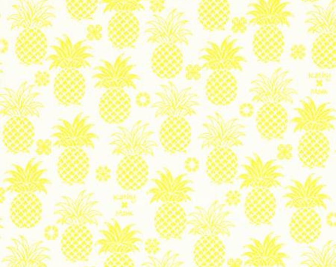 Lecien Fabrics - Kathy Mom 2018 Collection -  Blue Pineapples,  20110L-50 - Cotton Woven Fabrics