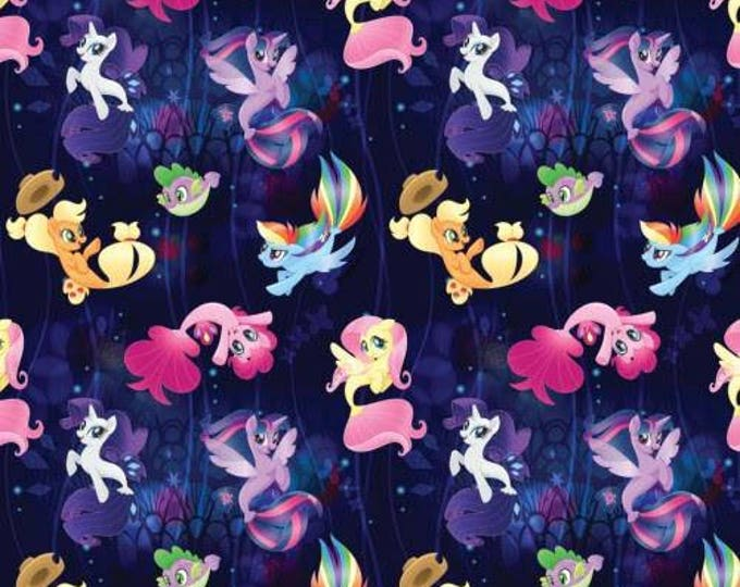 Springs Creative - Licensed My Little Pony Dark Purple Toss Cotton Woven Fabric