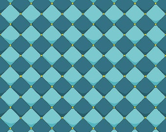Riley Blake Fabrics - Dragons by Ben Byrd -  Checkered Blue  c7665-blue Cotton Woven Fabric