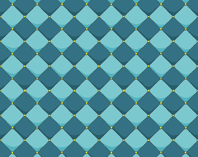 Riley Blake Fabrics - Dragons by Ben Byrd -  Checkered Blue  c7665-blue Cotton Woven Fabric