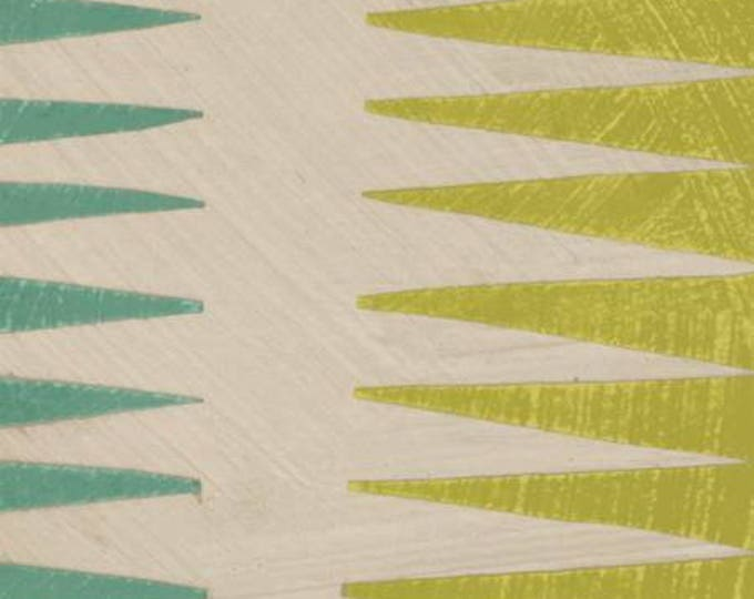 Windham Fabrics - Dreamer by Carrie Bloomston - Teal Pueblo Stripe Cotton Woven Fabric