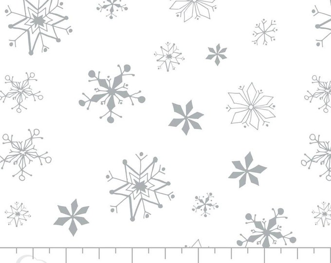 Winter Wonderland Trees snowflakes on White by Camelot Fabrics Cotton