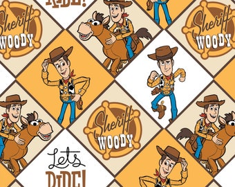 Camelot Fabrics - Licensed Disney's Toy Story 4 - Toy Story Sheriff Woody Multi #85410301-1 Cotton Woven Fabric