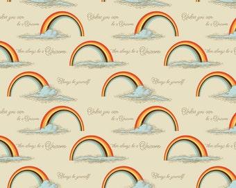 "CLEARANCE -      Riley Blake Unicorns and Rainbows Coordinate ""Be a Unicorn"" 1 yard  - Price per yard"