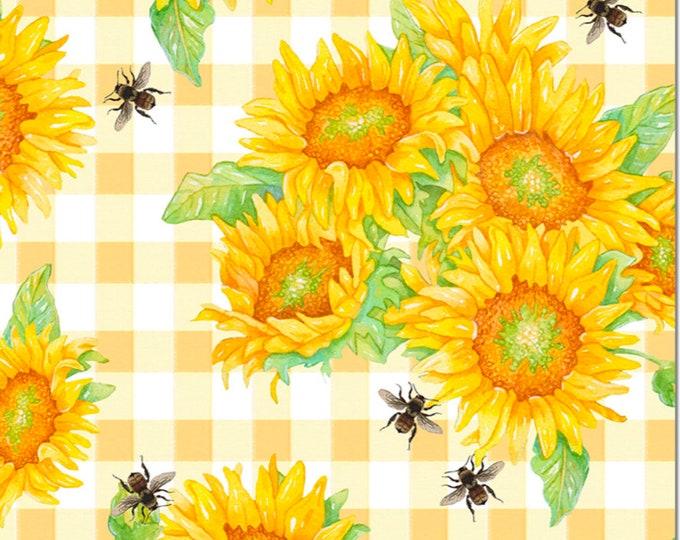 Studio E Fabrics - Bee Sweet by Cerrito Creek **Limited Release** - Sunflowers - 5127-44 - Cotton Woven Fabric