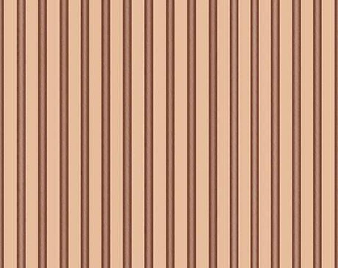 Quilting Treasures - Santoro's Gorjuss Letters from the Heart -  Beige Stripes Cotton Woven Fabric