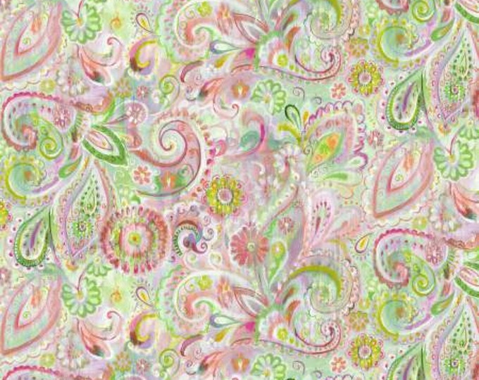 Wilmington Fabrics - Danhui Nai - Bohemian Dreams - Dream Paisley - Pink    89196-375 Cotton Woven Fabric