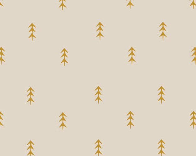 Art Gallery Fabrics - Autumn Vibes - Simple Defoliage - Gold -  Cotton Woven Fabric - Maureen Cracknell