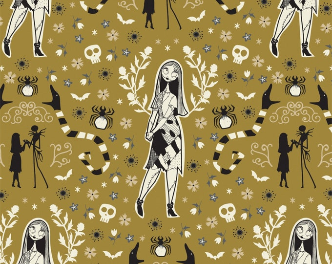 Nightmare Before Christmas - Jack is Back - Sally - Golden Green - Cotton Woven Fabric - Camelot