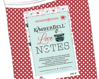 Maywood Studios - KimberBell's Love Notes Quilt Backing Kit KIT-MASBACK-LON