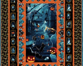 """Quilt Kit - Blank Quilting - Thriller Night Quilt Designed by Heidi Pridemore 57"""" X 77"""" - Includes Pattern, Top Fabrics and Binding"""